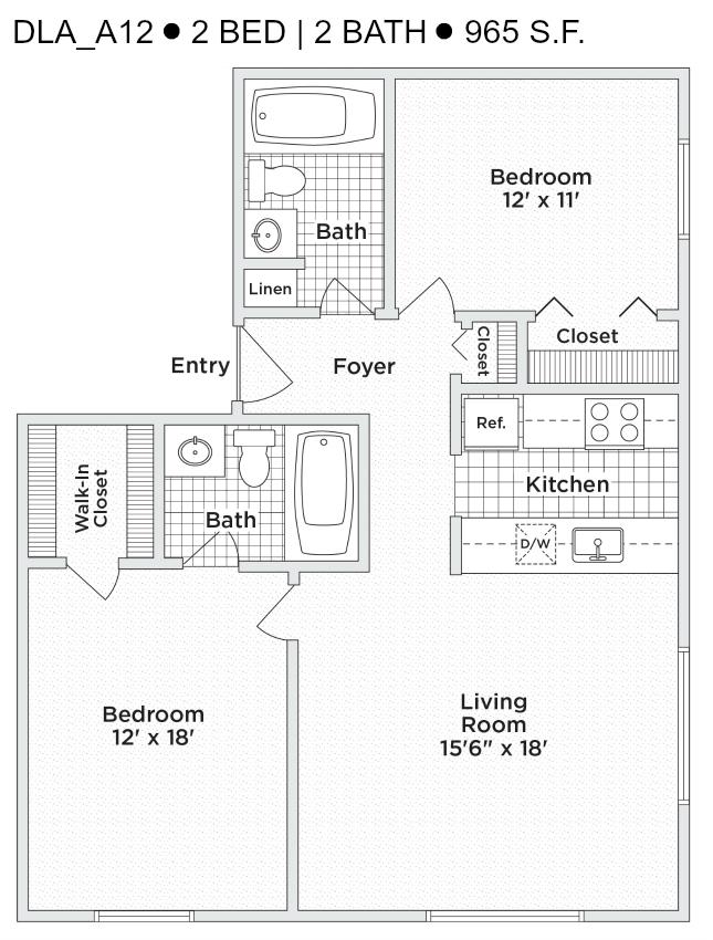 Delmar Loop Two Bedroom Two Bath Dla A12 Stl Apartments